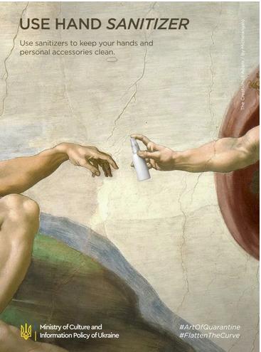 """""""La Création d'Adam"""", Michel-Ange"""
