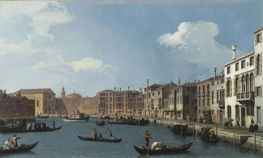 Canaletto, Vue du Canal de Santa Chiara, à Venise