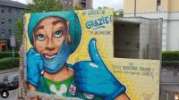Capture d'écran du compte Instagram du street artiste Lapo Fatai.