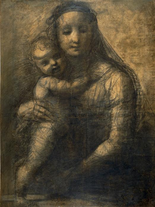 """Carton préparatoire de """"La Vierge à l'enfant"""" de Raphaël au British Museum"""