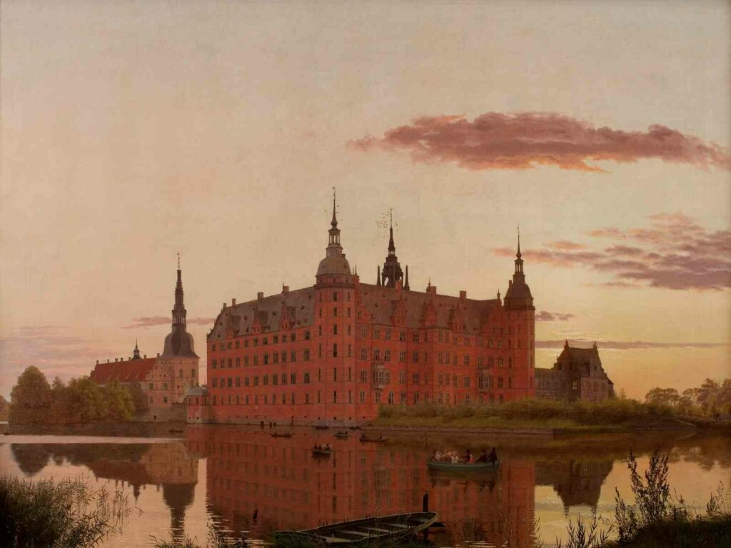 Christen Kobke, Le château de Frederiksborg vu de Jaegerbakken