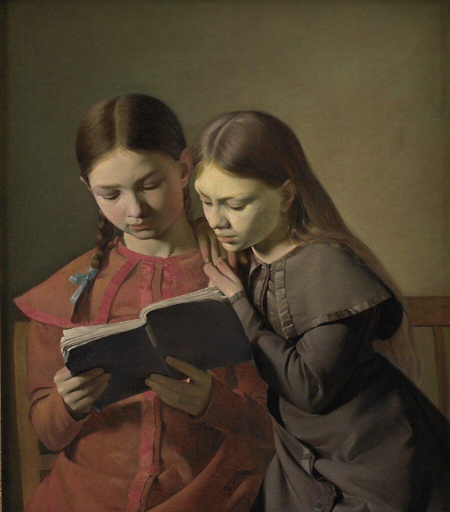 Constantin Hansen, Signe et Henriette Hansen, soeurs de l'artiste