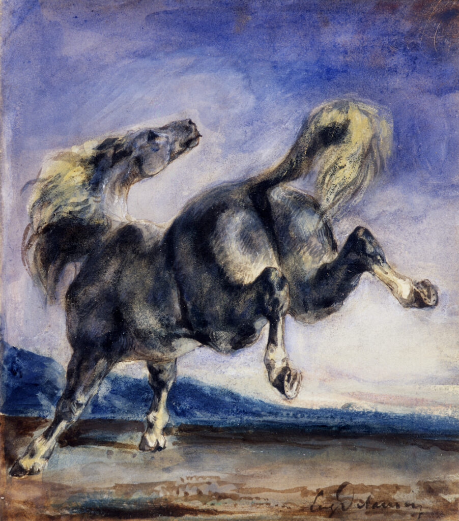 """Eugène Delacroix """"Cheval ruant"""""""