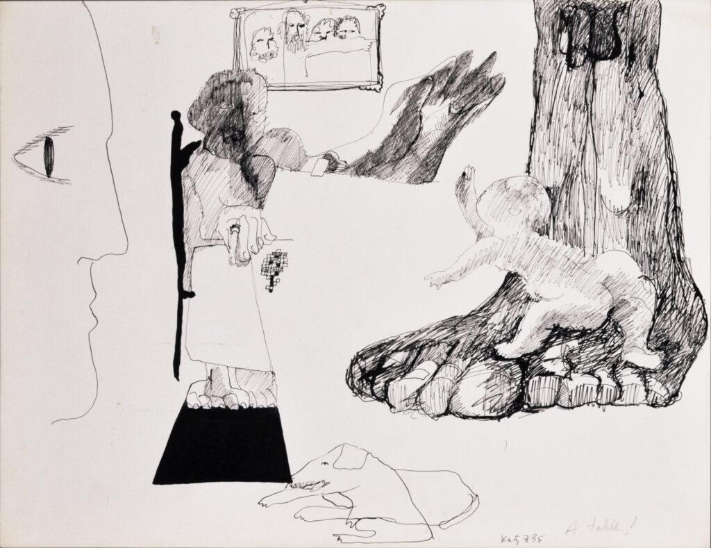 Michèle Katz, À table, 1971