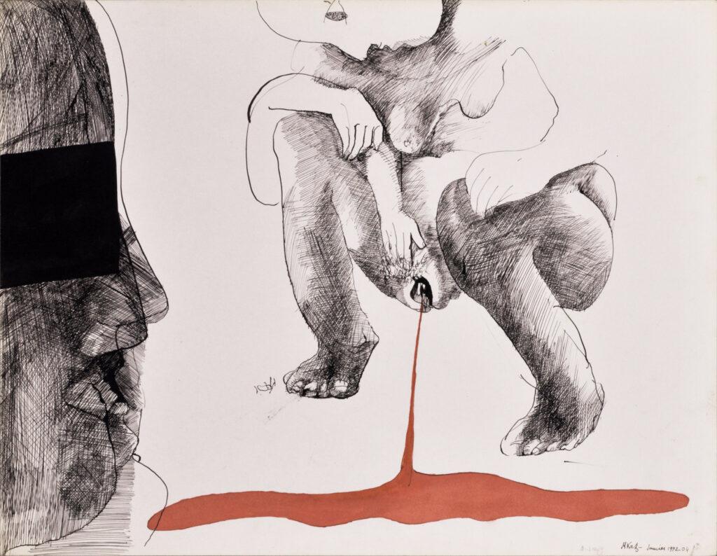 Michèle Katz, Le sang, 1972