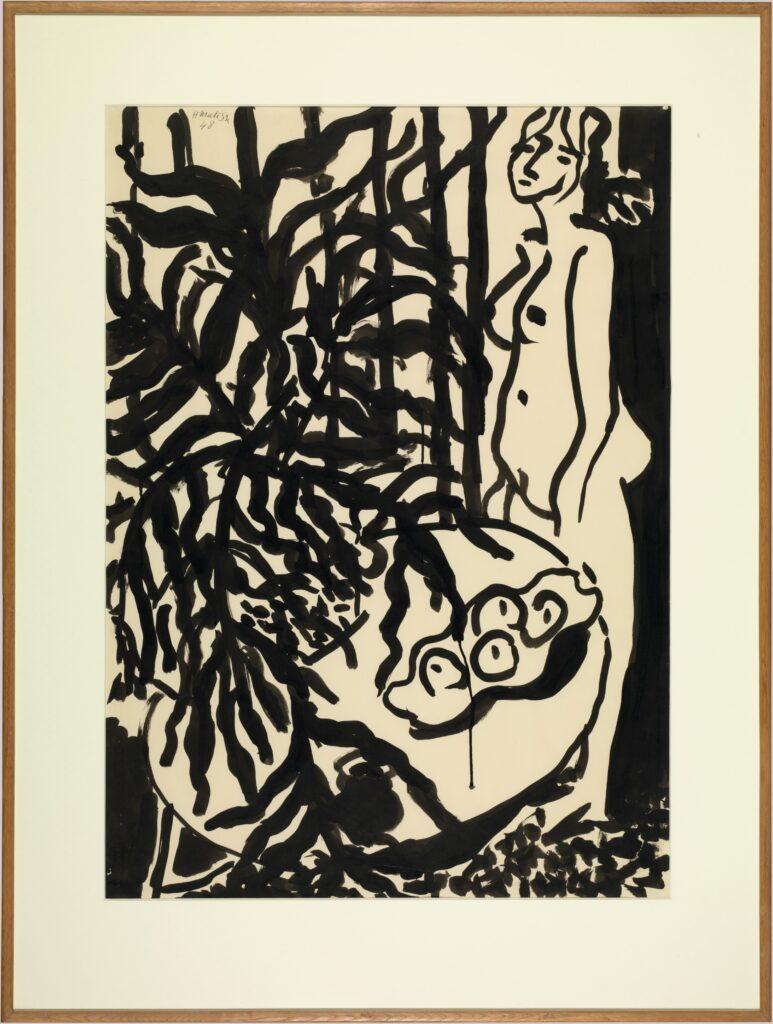 Matisse, Nu debout, fougère noire, 1948