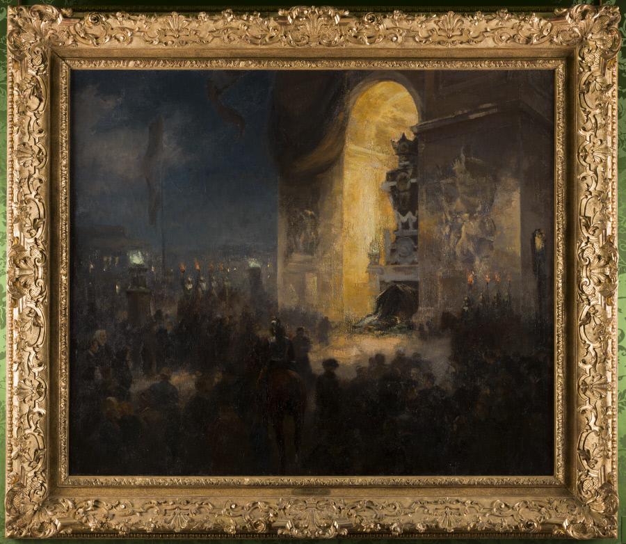 Alfred Roll, La veillée sous l'Arc de triomphe le 31 mai 1885, 1903