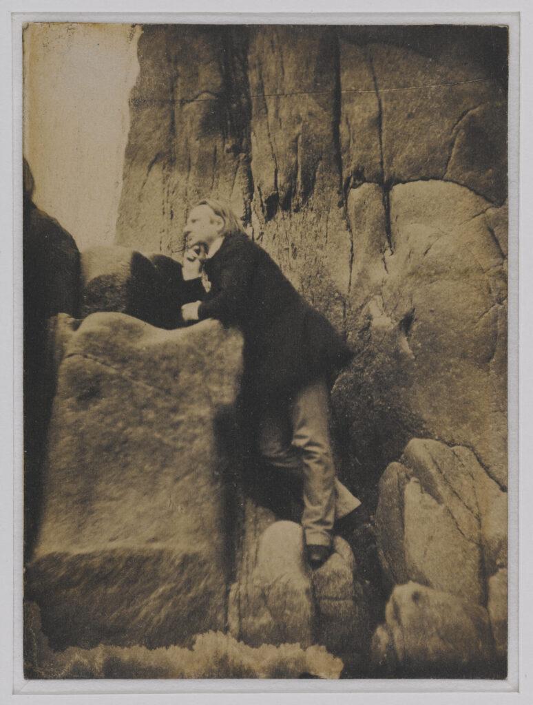 Charles Hugo, Victor Hugo sur le rocher des proscrits à Jersey, 1853-1855.