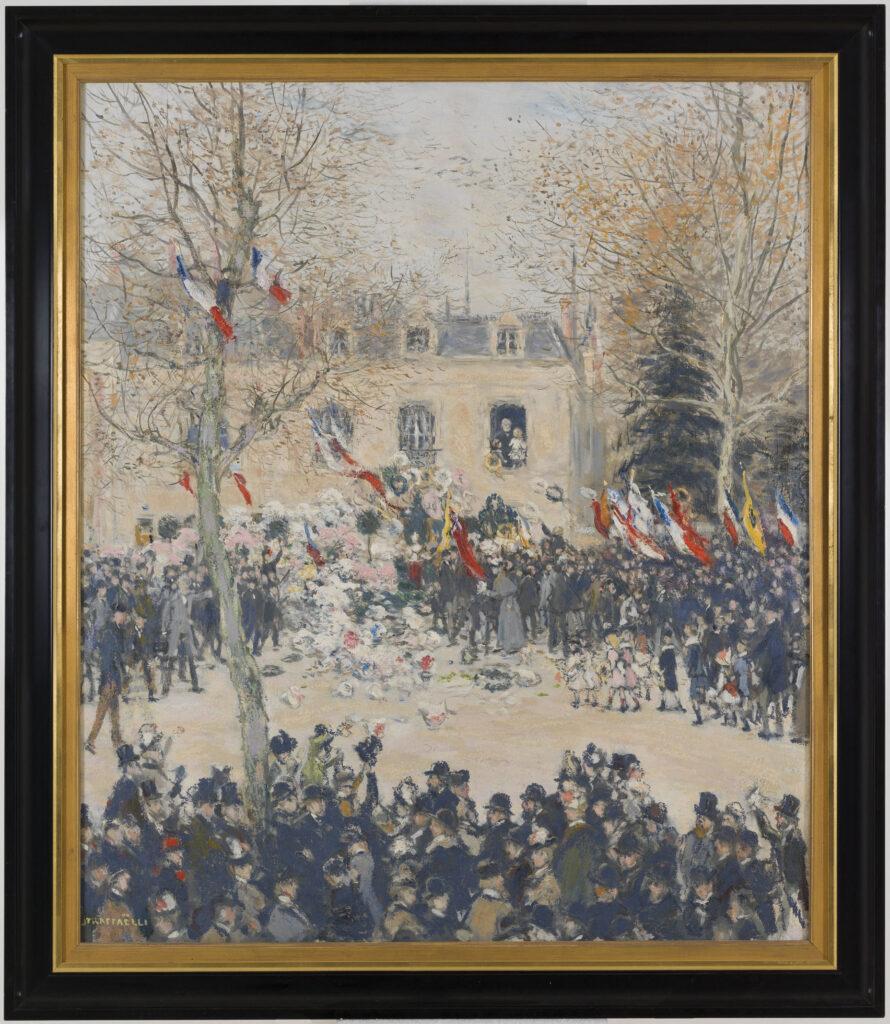 Jean-François Raffaelli, La fête des quatre-vingts ans de Victor Hugo, 1903