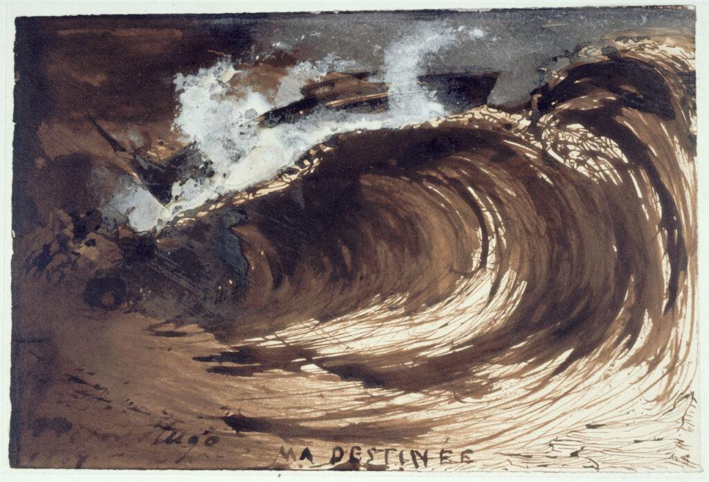 Victor Hugo (1802-1885), La vague (ou Ma destinée), 1857