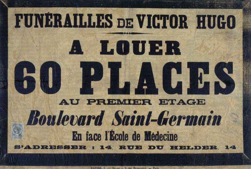 Anonyme, places à louer bd St Germain, 1885