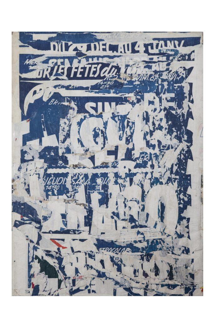 Exposition Viva Gino ! - Jacques Villeglé, Rue de Crimé, 1972