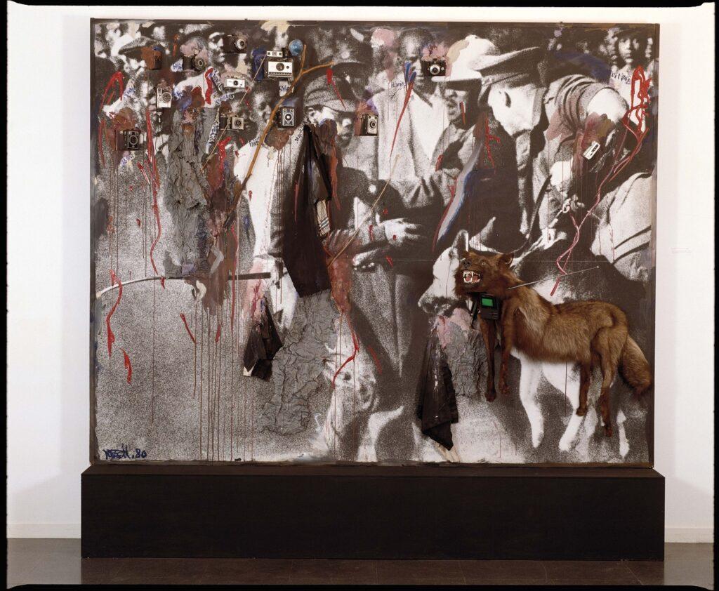 Exposition Viva Gino ! - Wolf Vostell Les fluxistes sont les nègres de l'histoire de l'art, 1980