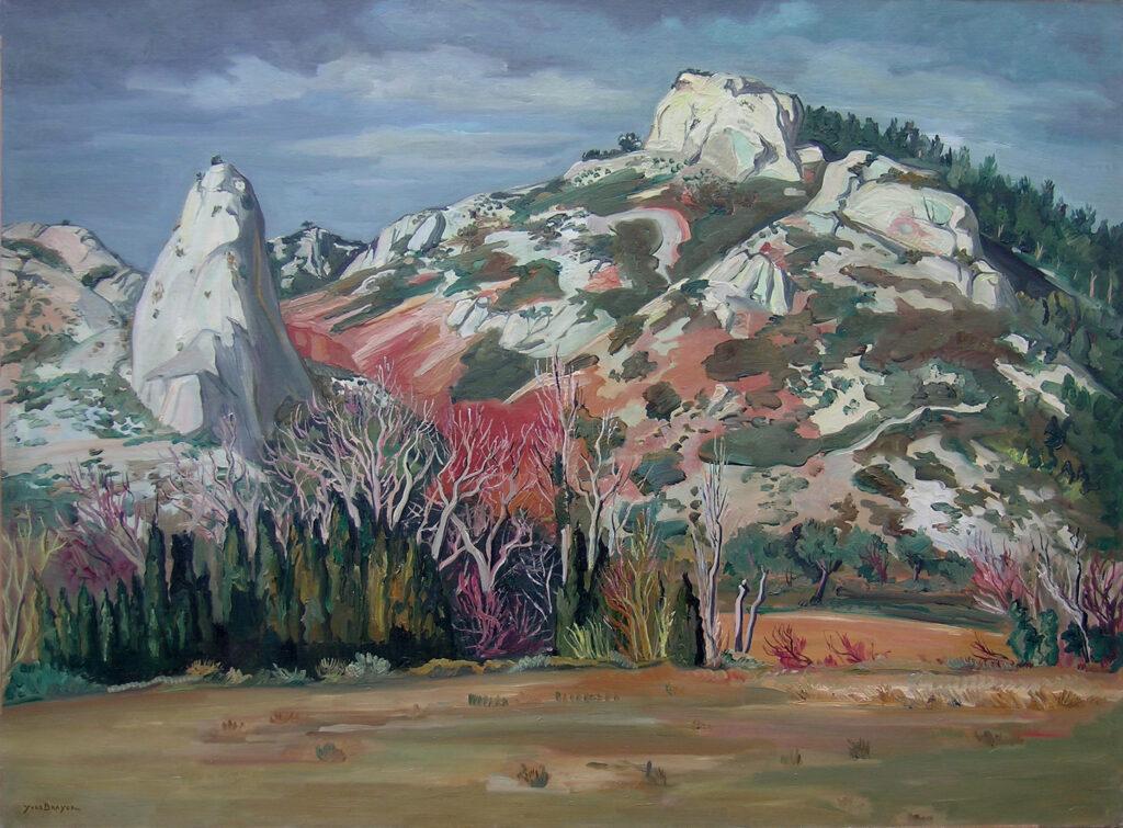 La montagne rouge aux Baux, 1948 , Huile sur toile 97x130cm