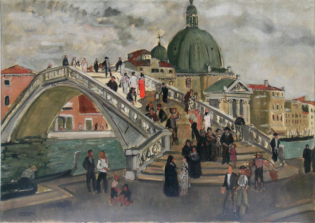 Le nouveau pont à Venise, 1935, Huile sur toile 85x119,5cm