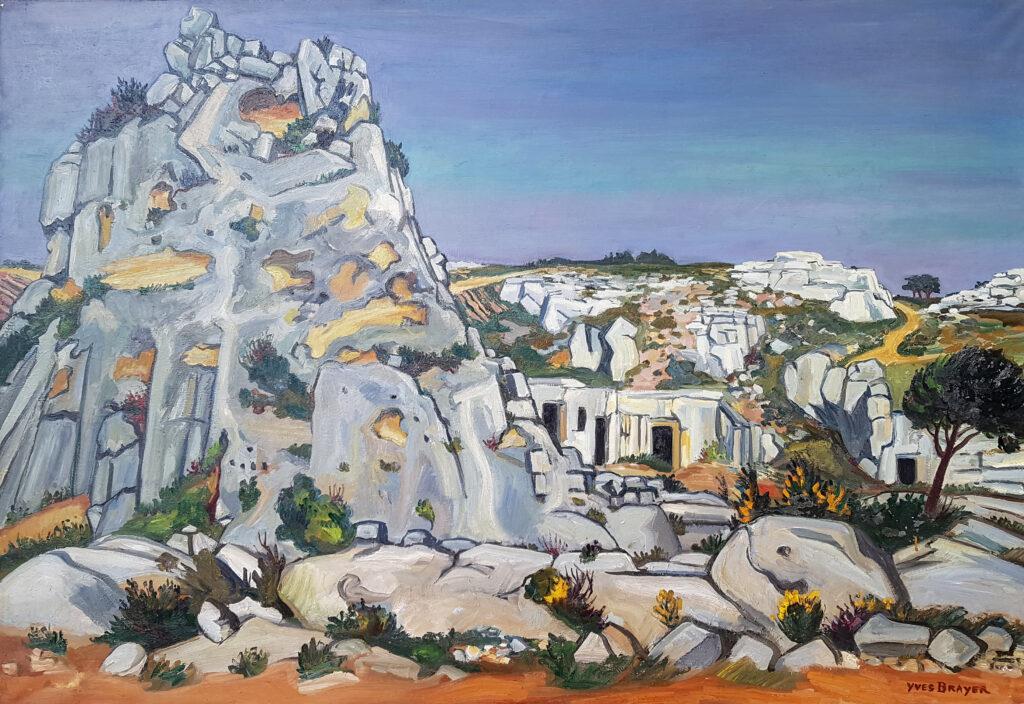 Le Val d'Enfer aux Baux, 1973, Huile sur toile 114x162cm