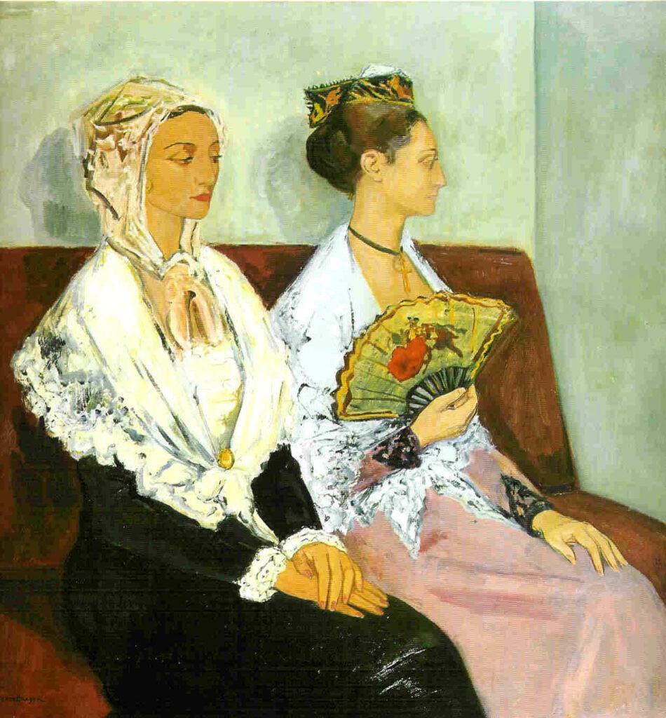 Les Arlésiennes en costume du dimanche, 1952, Huile sur toile 122x125cm