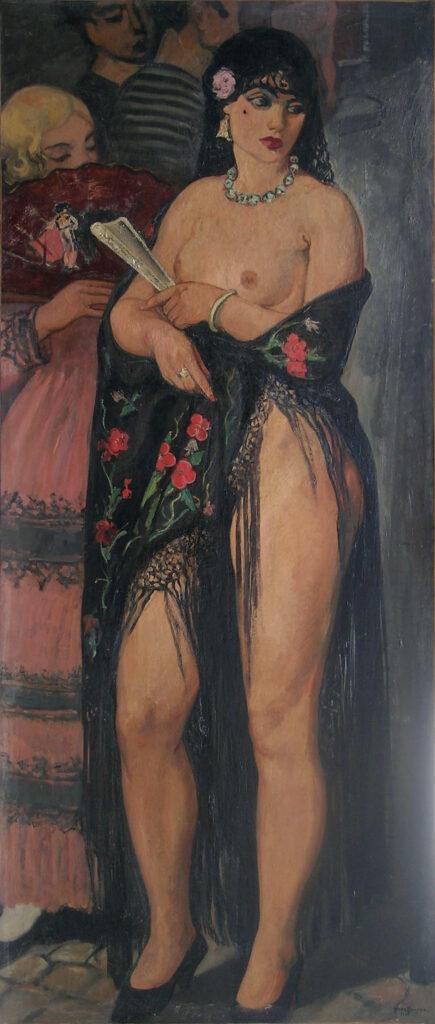 Nu au Châle, 1933, Huile sur toile 175x76 cm
