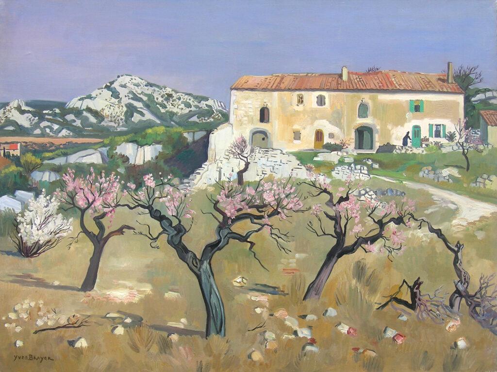 Printemps en Provence, 1962, Huile sur toile 97x130cm