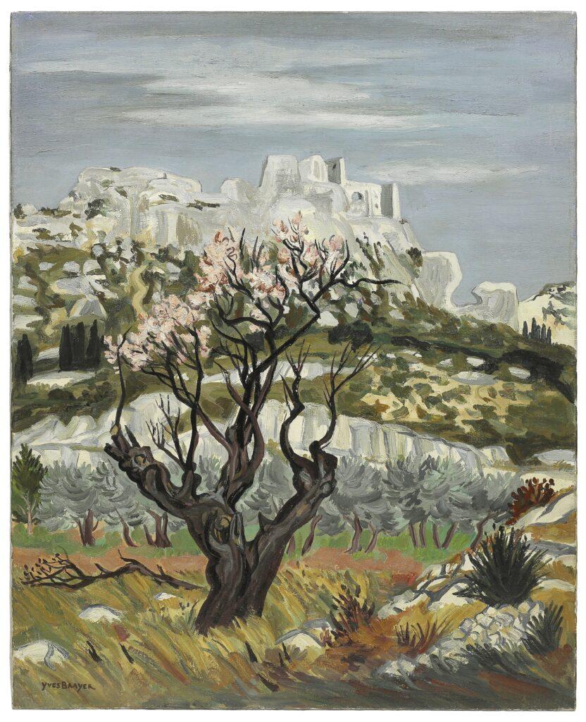 Exposition Yves Brayer un nouveau regard au musée Yves Brayer- Le vieil amandier en fleurs, 1978