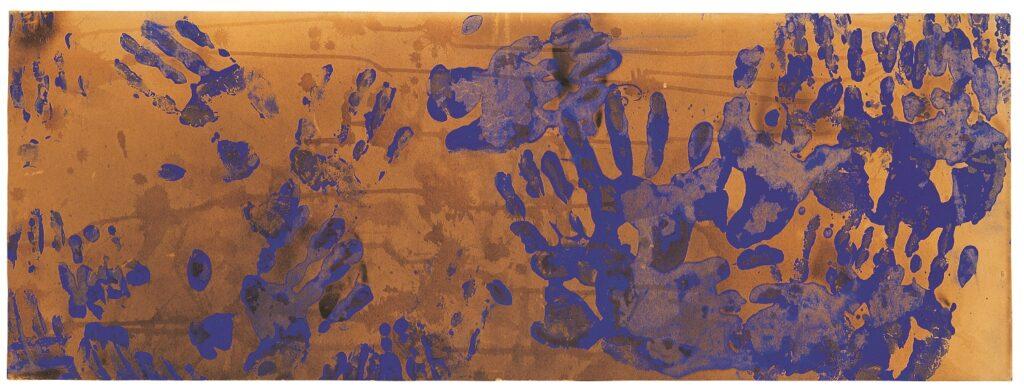 Exposition Yves Klein - Les éléments et les couleurs - Yves Klein, Peinture de Feu Couleur sans titre, (FC 21), 1961 ca.