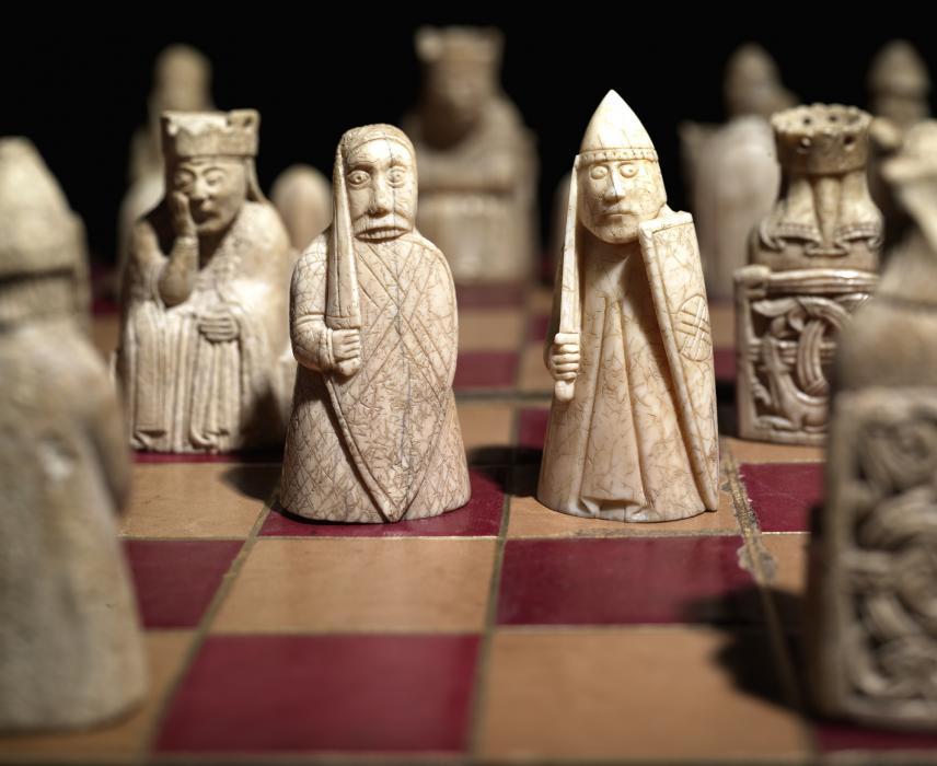 Figurines de Lewis (jeu d'échec) au British Museum