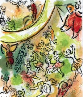 Fresque de l'opéra Garnier Chagall (détail)