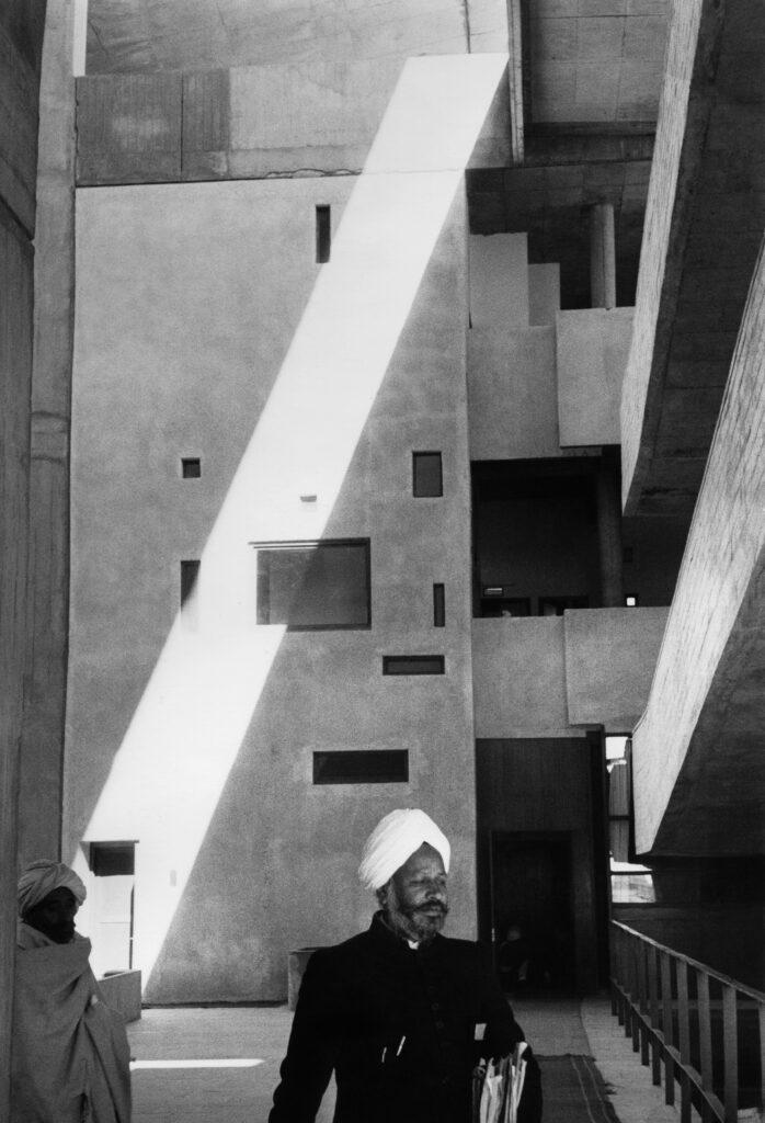 Marc Riboud, High Court, bâtiment conçu par Le Corbusier, à Chandigarh