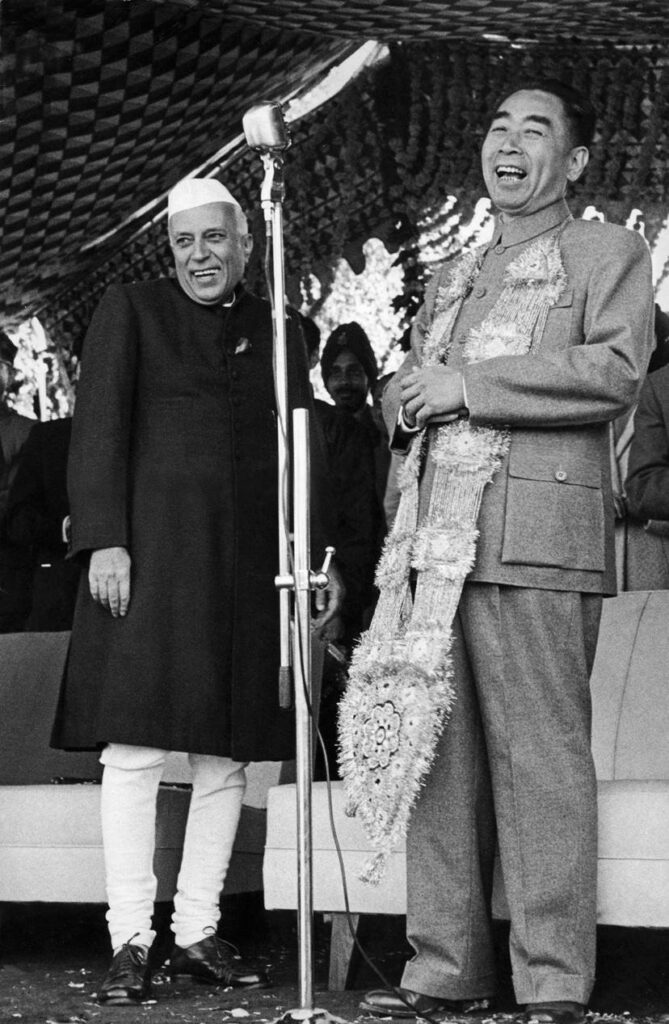 Marc Riboud, Jawaharlal Nehru et Zhou Enlai - Inde 1956