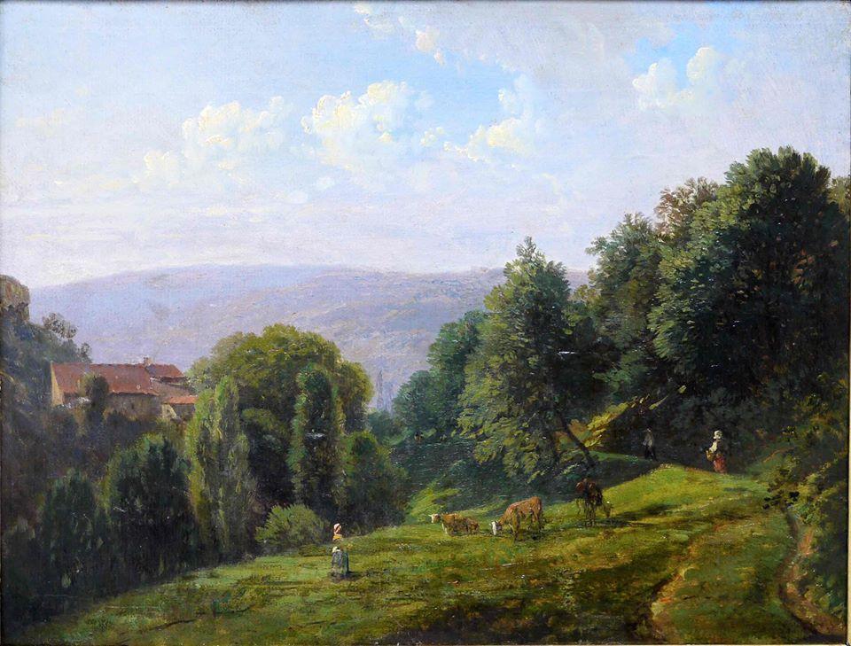Jean-Antoine Siméon Fort, Vue prise en Dauphiné, associée à La Montagne de Jean Ferrat