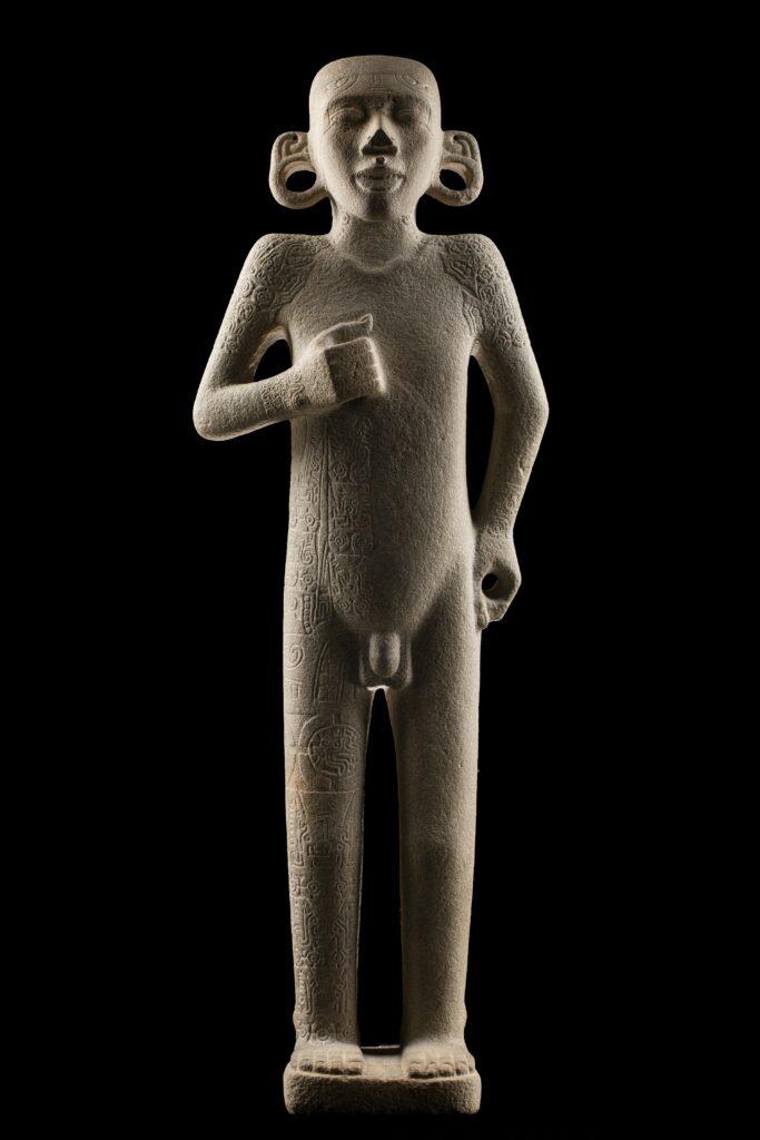 "Sculpture olmèque ""Escultura de hombre de pie"""