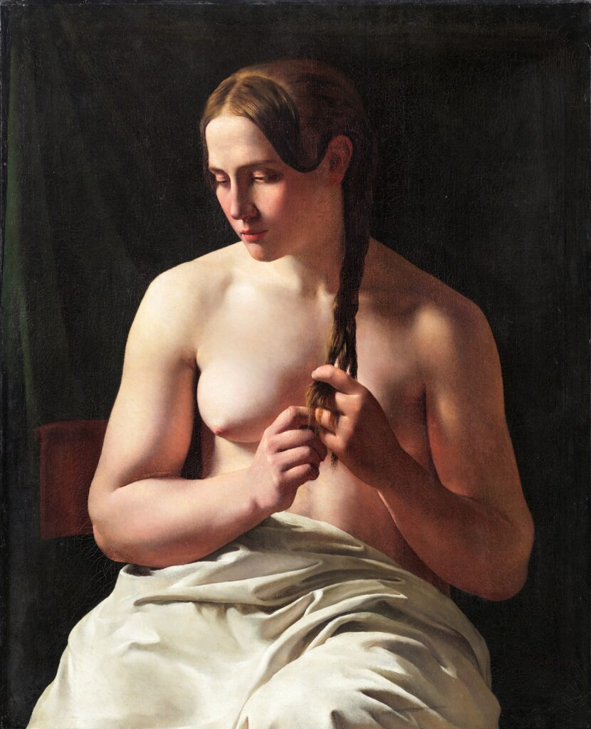 Ludvig August Smith, Femme se tressant les cheveux