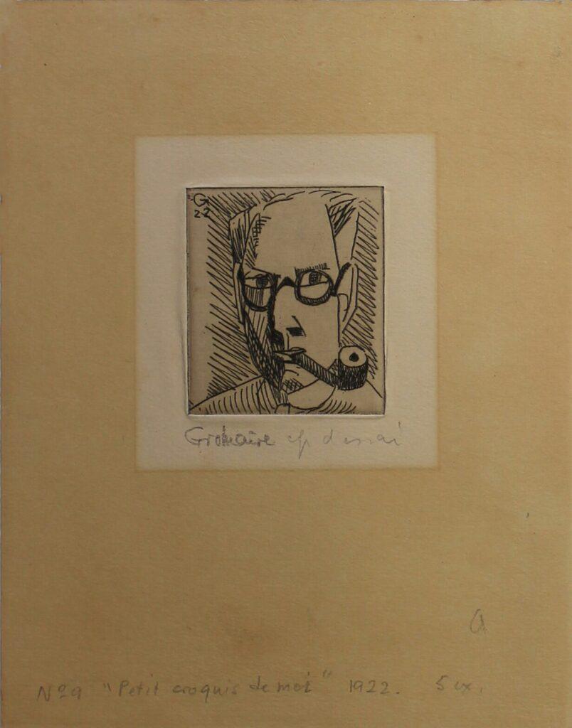 Marcel GROMAIRE Petit croquis de moi 1922