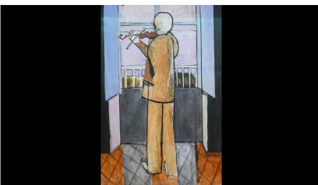 Matisse, Le violoniste à la fenêtre
