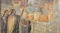 Mosaique de Pompei Dernier repas a Pompei Musee de l'homme