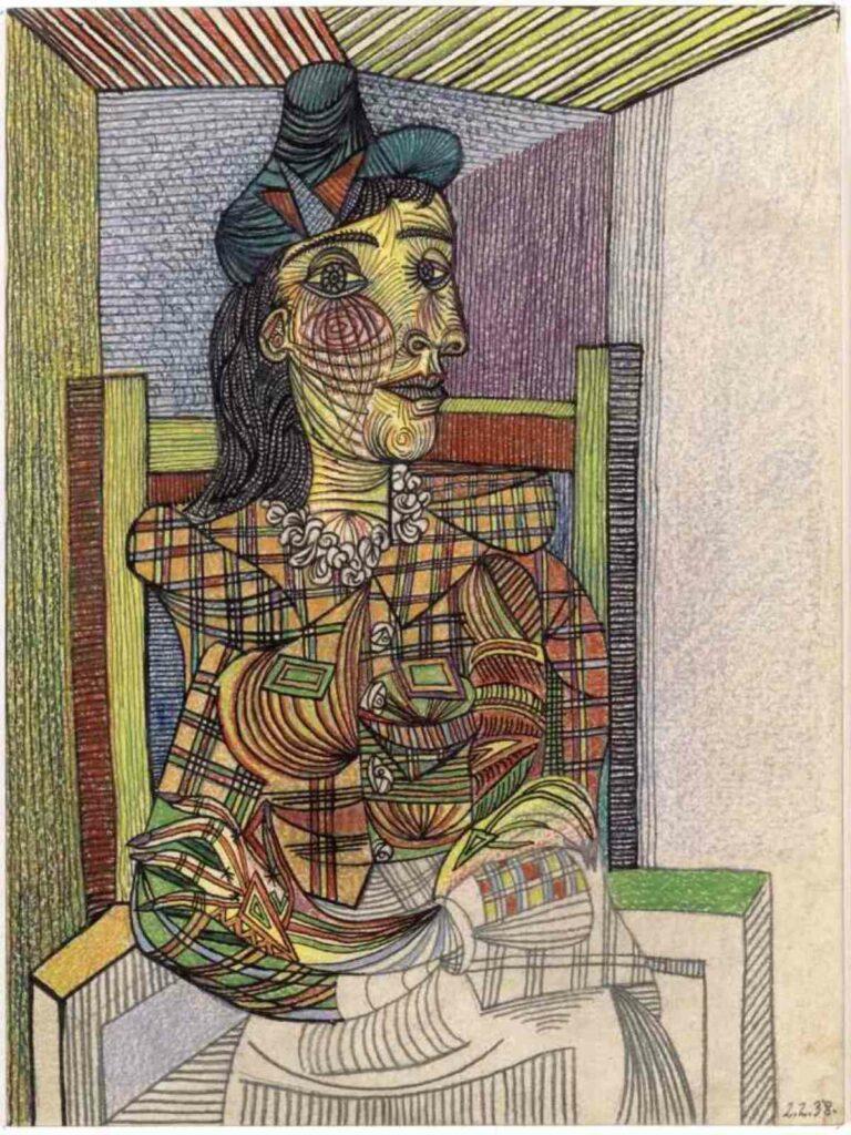 Pablo Picasso Dora Maar assise, 2 février 1938