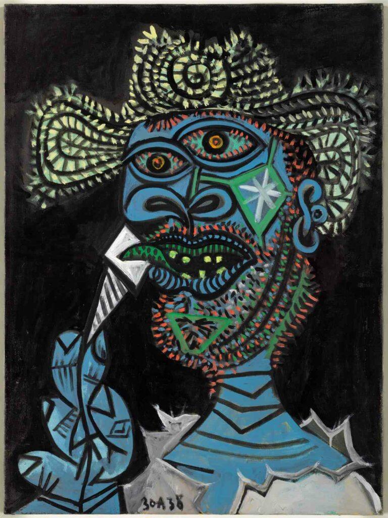 Pablo Picasso - Homme au chapeau de paille et au cornet de glace, 30 août 1938