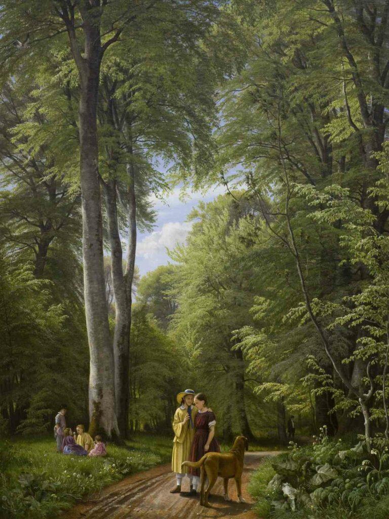 Peter Christian Skovgaard, Forêt de hêtres en mai. Iselingen