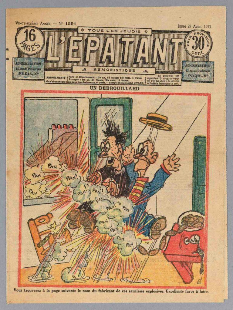 """Pablo Picasso - Première de couverture de la revue """"L'Epatant"""" n°1291, 27 avril 1933"""
