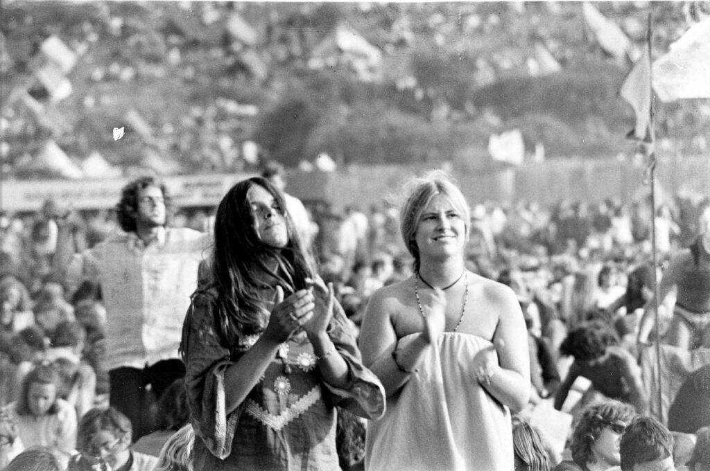 Public du Festival de l'Île de Wight en 1970