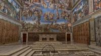 Capture d'écran visite virtuelle Chapelle Sixtine