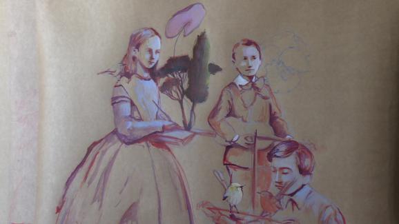 """La """"famille confinée"""" de Nathalie Novi."""