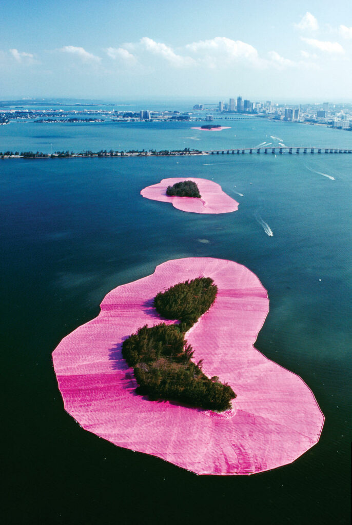 Christo Jeanne-Claude, Surrounded Islands, Biscayne Bay, Greater Miami, Florida, 1980-83