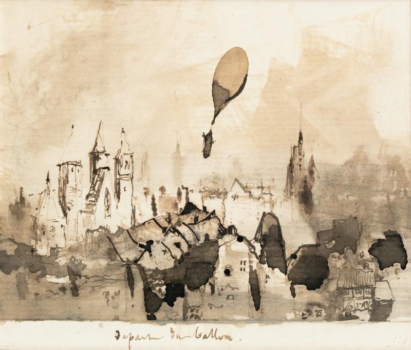 Départ du ballon de Victor Hugo vendu 37 500 euros