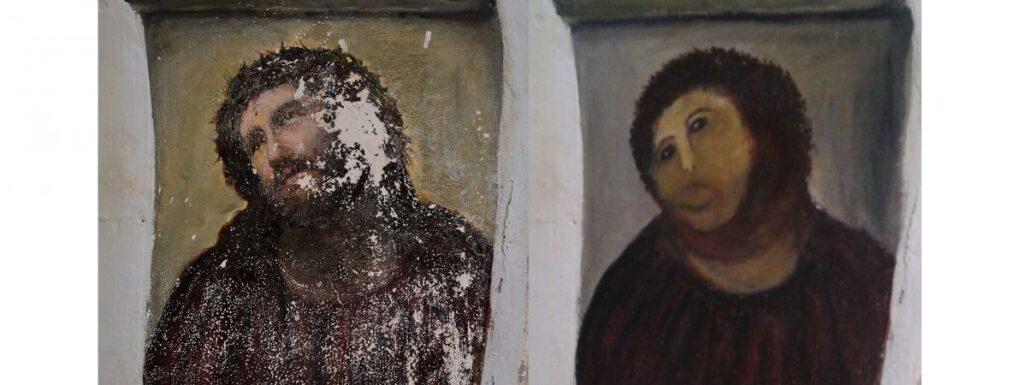 Ecce Homo, avant et après la restauration inopportune
