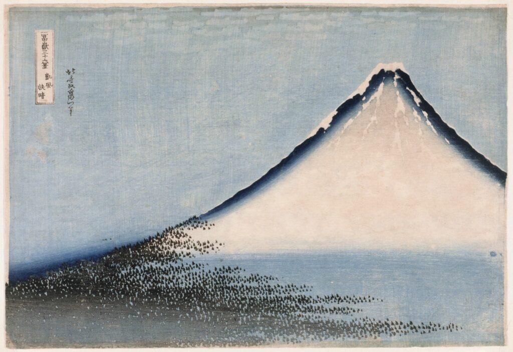 Exposition Fuji, pays de neige au musée Guimet-Le Fuji bleu Série des Trente-six vues du mont Fuji, HOKUSAI Katsushika (1760-1849)