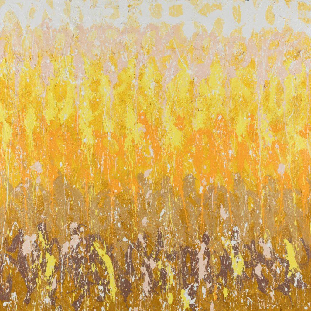 Exposition JonOne à la Galerie Rabouan Moussion-Fly Fight Freeze, 2020, 200 x 200 cm
