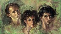 Exposition Leonor Fini à la Galerie Minsky- LF 6 AUTOPORTRAIT AVEC KOT ET SERGIO, 1955