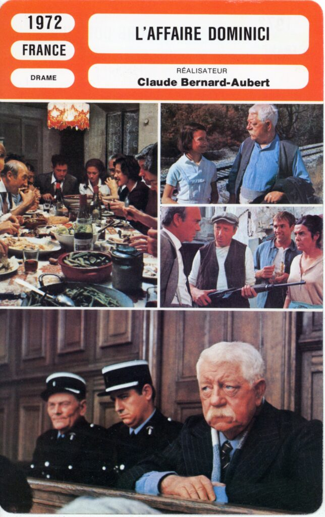 "Jean Gabin Victor Lanoux - Carte Fiche Cinéma ""L'affaire Dominici"", 1972"