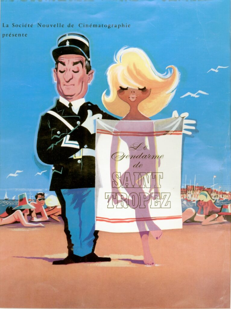 Affiche du film Le gendarme de Saint-Tropez, 1964